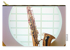 Saxophone In Round Window Carry-all Pouch