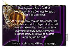 Saxophone Photograph Why Music For T-shirts Posters 4819.02 Carry-all Pouch by M K  Miller