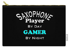Saxophone Player By Day Gamer By Night 5623.02 Carry-all Pouch