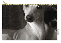 Say What Italian Greyhound Carry-all Pouch by Angela Rath