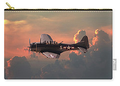 Carry-all Pouch featuring the digital art  Sbd - Dauntless by Pat Speirs