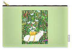 Carry-all Pouch featuring the painting Scapegoat Healing by Lise Winne