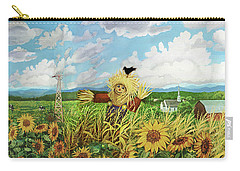 Scare Crow And Silo Farm Carry-all Pouch by Bonnie Siracusa