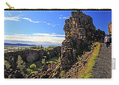 Scared Earth At The Mid-atlantic Rise In Thingvellir, Iceland Carry-all Pouch by Allan Levin