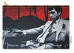 Scarface - Sunset 2013 Carry-all Pouch by Luis Ludzska