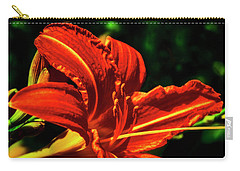 Carry-all Pouch featuring the photograph Scarlet Flower  by Joseph Hollingsworth