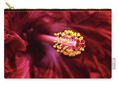 Scarlet Hibiscus Carry-all Pouch by Jessica Jenney