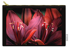 Carry-all Pouch featuring the photograph Scarlet Lilies by Kathleen Stephens