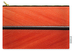 Scarlet Macaw Feather Carry-all Pouch