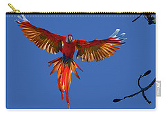 Scarlet Macaw On The Osa Peninsula Carry-all Pouch