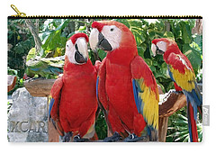 Scarlet Macaws Carry-all Pouch by Ellen Henneke