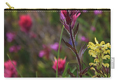 Carry-all Pouch featuring the photograph Scarlet Paintbrush by David Chandler