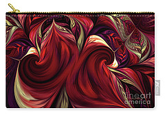 Carry-all Pouch featuring the digital art Scarlet Red by Deborah Benoit