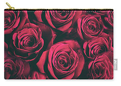 Carry-all Pouch featuring the photograph Scarlet Roses by Jessica Jenney