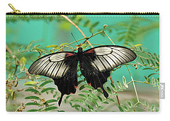 Carry-all Pouch featuring the photograph Scarlet Swallowtail Butterfly -2 by Paul Gulliver