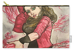 Scarlet Witch  Carry-all Pouch by Jimmy Adams