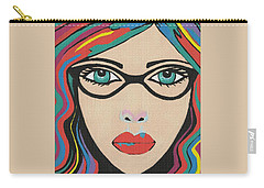 Scarlett - Contemporary Woman Art Carry-all Pouch
