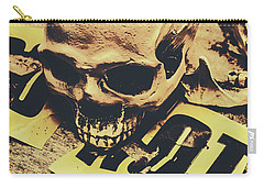 Scary Human Skull Carry-all Pouch