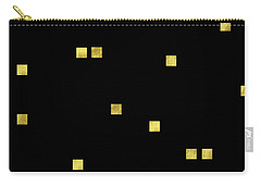 Scattered Gold Square Confetti Gold Glitter Confetti On Black Carry-all Pouch by Tina Lavoie