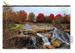 Scene From The Falls Park Bridge In Greenville, Sc Carry-all Pouch