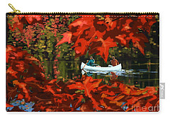 Scenic Autumn Canoe  Carry-all Pouch by Sassan Filsoof