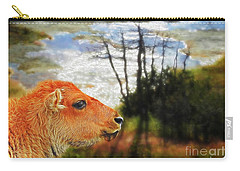 Scenic Buffalo Calf Carry-all Pouch by Suzanne Handel