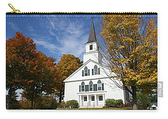 Scenic Church In Autumn Carry-all Pouch by Lois Lepisto