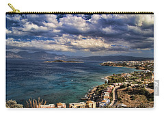 Scenic View Of Eastern Crete Carry-all Pouch
