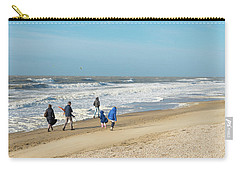 Carry-all Pouch featuring the photograph Scheveningen Beach Netherlands by Hans Engbers