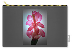 Schlumbergera Portrait. Carry-all Pouch by Terence Davis