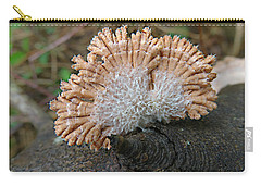 Carry-all Pouch featuring the photograph Schizophyllum Commune by William Tanneberger