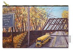 School Bus On Linden Street Carry-all Pouch