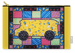 School Bus Quilt Carry-all Pouch by Jim Harris