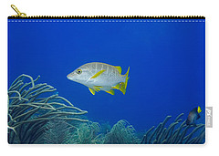 Carry-all Pouch featuring the photograph Schoolmaster Snapper by Perla Copernik