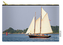 Carry-all Pouch featuring the photograph Schooner Cruise, Casco Bay, South Portland, Maine  -86696 by John Bald