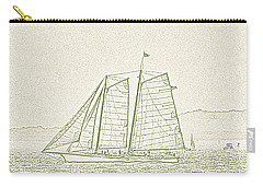 Schooner On New York Harbor No. 3-2 Carry-all Pouch by Sandy Taylor