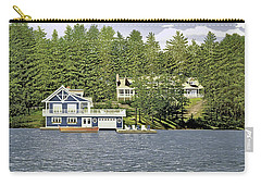 Carry-all Pouch featuring the painting Schultz Summer Home Muskoka by Kenneth M Kirsch
