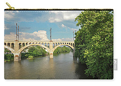 Schuylkill River At The Manayunk Bridge - Philadelphia Carry-all Pouch by Bill Cannon