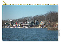 Carry-all Pouch featuring the photograph Schuylkill River - Boathouse Row In Philadelphia by Bill Cannon