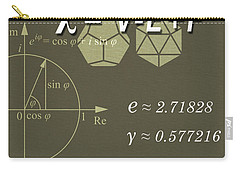 Science Posters - Leonhard Euler - Mathematician, Physicist, Engineer Carry-all Pouch