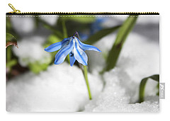Scilla In Snow Carry-all Pouch by Jeff Severson