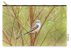 Scissortail In Scrub Carry-all Pouch by Robert Frederick