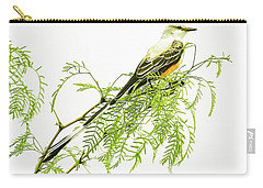 Scissortail On Mesquite Carry-all Pouch by Robert Frederick