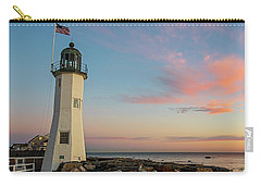 Scituate Lighthouse Scituate Massachusetts South Shore At Sunrise Carry-all Pouch