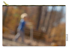 Carry-all Pouch featuring the photograph Scootering At The Park by Greg Collins