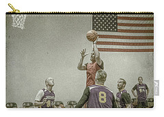 Carry-all Pouch featuring the photograph Scoring In The Lane by Ronald Santini