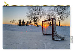 Carry-all Pouch featuring the photograph Scoring The Sunset 2 by Darcy Michaelchuk