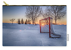 Carry-all Pouch featuring the photograph Scoring The Sunset 3 by Darcy Michaelchuk