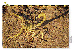 Carry-all Pouch featuring the photograph Scorpion by Robert Bales