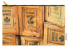 Carry-all Pouch featuring the photograph Scott Farm Apple Boxes by Tom Singleton